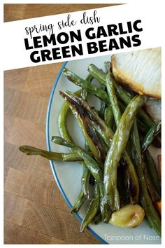Whether you're planning an Easter menu or looking for a new weeknight staple, lemon garlic green beans are the perfect side dish for a bright spring meal! Spring Recipes, Holiday Recipes, Lemon Garlic Green Beans, Side Dish Recipes, Side Dishes, Roasted Fall Vegetables, Salad Toppings, Feeding A Crowd, Healthy Sides