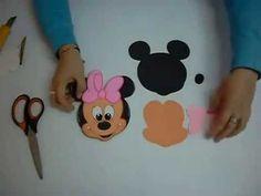 Minnie Mouse en Foami, Goma Eva, Microporoso (1ra Parte) - YouTube