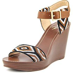 LFL by Lust for Life Womens LNewbie Wedge Sandal Cognac 85 M US -- Want additional info? Click on the image.