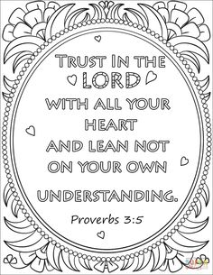 On Your Own Understanding Coloring Page From Bible Verse Category Select 27336 Printable Crafts Of Cartoons Nature Animals And Many More