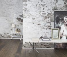 Whilst ivory paint has often been the choice of muted, traditional spaces; this wall reveals the aesthetic grace that can be found in the aging process. It's a contemporary twist on a more traditional paint choice. Bedroom Wall, Bedroom Decor, Wall Decor, Ivory Paint, Deco Restaurant, Traditional Paint, Wall Finishes, Creative Walls, Industrial House