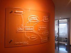 Un detalle de la oficina de Microsoft, Colombia.
