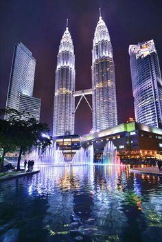 The Petronas Twin Towers of Malaysia .. by Muna abu Dalbouh