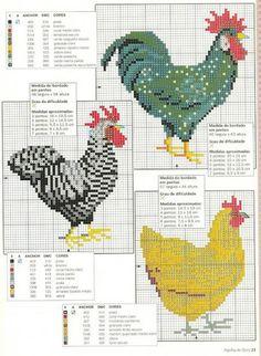 Chicken cross stitch