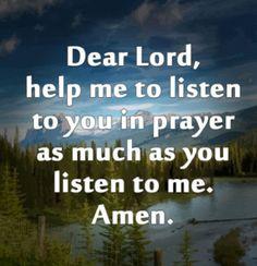 Dear Lord..