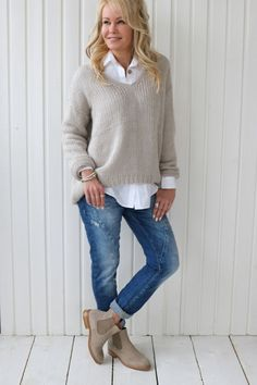 MARILYN Jumper, BEIGE - Knits - BYPIAS #comfystyle