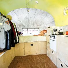 Airstream home: Bedroom