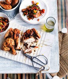 Charcoal-grilled chicken with aji (Pollo a la Brasa) - Gourmet Traveller
