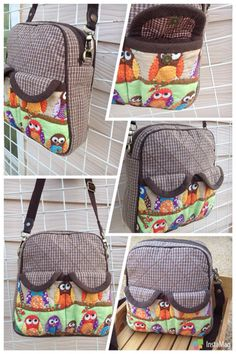 Owl bag Quilted Bag, Cotton Quilts, Lunch Box, Owl, Backpacks, Bags, Handbags, Owls, Totes