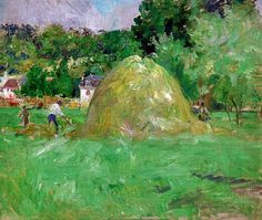 Berthe Morisot - Stack of Hay in Bougival, 1883 (Musee Marmottan Monet - Paris France) at Museo Thyssen-Bornemisza Madrid Spain | by mbell1975