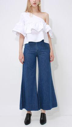 Helena Denim, a high rise sailor-inspired jean in Standard Denim