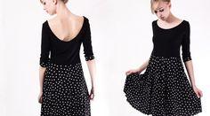 Stretchkleider - NARA ®   Alltagskleid mit Balerina Ausschnitt - ein Designerstück von Berlinerfashion bei DaWanda