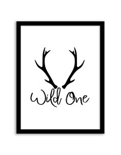 Download and print this Wild One free printable wall art for your home or office!