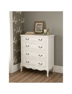 La Rochelle Antique French Style Chest Bedroom Furniture French for measurements 2000 X 2000 French Antique Bedroom Dresser - If it's time for you to White Chest Of Drawers, Vintage Chest Of Drawers, Shabby Chic Antiques, French Antiques, French Furniture, Shabby Chic Furniture, Painted Furniture, Bedroom Dressers, Bedroom Furniture
