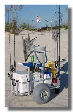 Fishing Rod Holders For Garage Ceiling Fishing Trolley, Beach Fishing Cart, Kayak Fishing, Fishing Tackle, Beach Cart, Fishing Pole Holder, Fish Crafts, Fishing Videos, Salmon Fishing