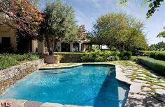 Meg Ryan's glistening pool