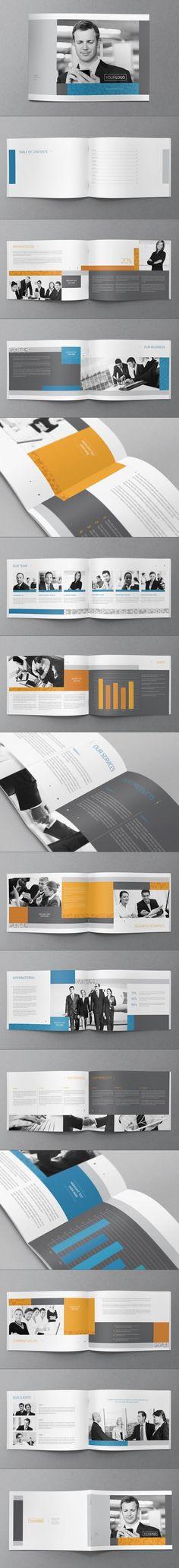 Corporate Brochure Design by Abra Design, via Behance