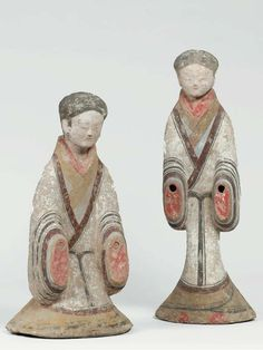 Han Dynasty lady attendant statues - Christies