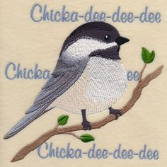 Chickadee Song design (H7233) from www.Emblibrary.com