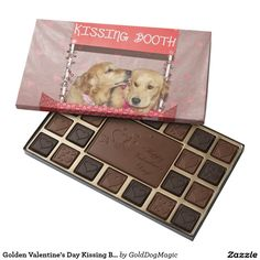 Golden Valentine's Day Kissing Booth 45 Piece Box Of Chocolates