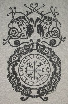 S - XL Vegvísir Bind Rune Circle Viking Pagan Norse T-Shirt Choice of Colors BL