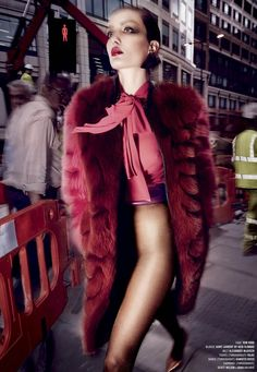 Venus in Furs: Andreea Diaconu by Sølve Sundsbø for V Magazine Fall 2014