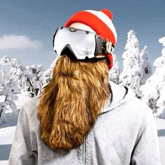 Look Like ZZ Top on the Ski Slopes with Beardski Zz Top, Fake Beards, Best Ski Goggles, Weird Inventions, Biker, Best Skis, Things To Buy, Stuff To Buy, Travel Items