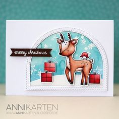 I combined a fall stamp set by and a Christmas set by to create this card! Winter Cards, Holiday Cards, Christmas Cards, Merry Christmas, Xmas, Winter Karten, Neat And Tangled, Cute Cards, Diy Cards