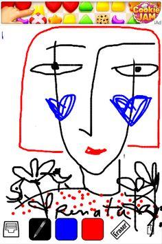 Desenho feito com o dedo.Feito por Renata GAM.