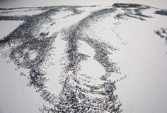Baptiste Debombourg ///  Con grapas.  Así es como este artista francés dibuja. Juega con la cantidad de grapas para degradar, sombrear… Con esta técnica se demuestra que se puede dibujar con cualquier cosa, mejor ejemplo imposible.