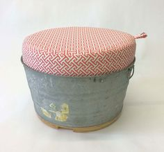 Wash Tub Ottoman by RodneyAllenTrice on Etsy, $250.00