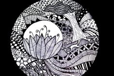 zentangle circles | Zentangle Circles My zentangles in a circle