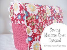 Pine Needles at Gardner Village: Make It Monday, Sewing Machine Cover Tutorial