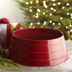 How to make a cb inspired galvanized christmas tree collar for new modern alternative to the tree skirt conceals tree stands with a pop of glossy solutioingenieria Choice Image
