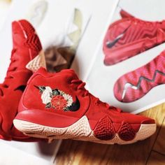 new arrival 1efb0 703c5 Nike-Kyrie-4-EP-CNY-IV -Chinese-New-Year-Floral-Irving-Asia-Only-Men-943807-600