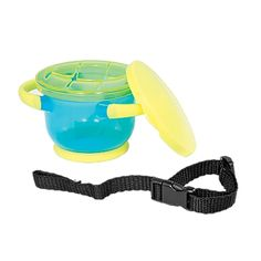One Step Ahead snack cup is my favorite because it is both easy for a child to get the food out AND comes with a cover. I couldn't find another with a cover like this one.