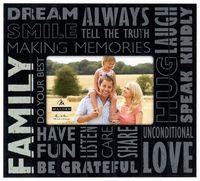 "Frame 4x6 ""Family"" subway tabletop www.lambertpaint.com"