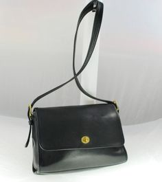 Vintage Coach Bag - black.  Made in New York City.  Sigh.  Ebay - buy it now $77.50.