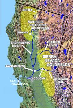 California Gold Rush Map