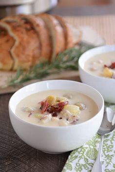 Instant Pot Cheesy Potato Soup via @melskitchencafe