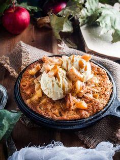 Salty caramel apple cookie pie // Suolakinuski-omena-keksipiirakka (toiveruokaa osa 4) – Viimeistä Murua Myöten