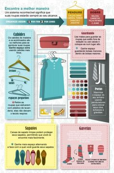 Fashion infographic & data visualisation This cool graphic from Apartment Geeks tells you how to organize your closet. Infographic Description how to Wardrobe Organisation, Closet Organization, Organizing Clutter, Organising Tips, Organizing Ideas, Kitchen Organization, Organizar Closet, How To Organize Your Closet, Fashion Infographic