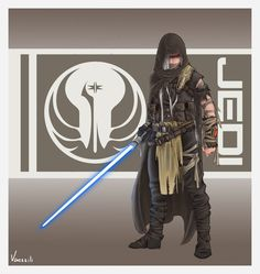 Jedi character 01 by Vaessili