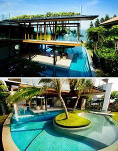 Tropical Luxury + Green Living = Lofted Seaside Solar Home