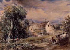 Water Street, Hampstead: 1832 by John Constable (High Museum of Art  --  Atlanta, Georgia) - Romanticism