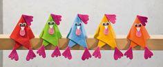 Poules en couleurs