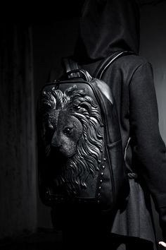 R-92 Lion embossing backpack