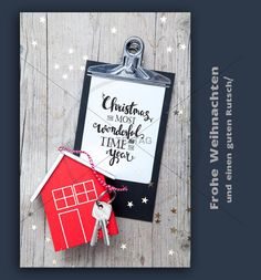 Senden Sie eine digitale Weihnachtsgrüße an Ihre Kunden. Weihnachts E-Card für Immobilien Makler. Geeignet für die Website, zum Senden per Mail, Newsletter