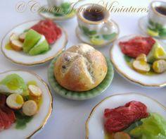 Corned beef dinner by Crown Jewel Miniatures- soda bread