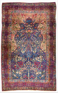 isfahani tree of life carpet, iran